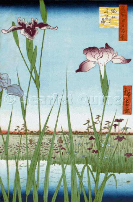 click here to view larger image of Iris Garden at Horikiri - Ando Hiroshige (chart)