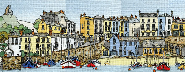 click here to view larger image of Harbour Town (Tenby) (counted cross stitch kit)
