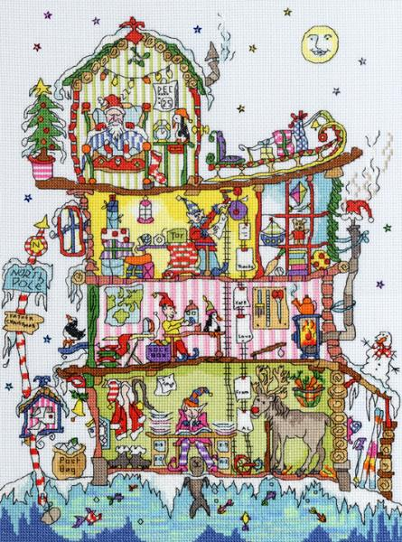 click here to view larger image of Cut Thru North Pole House  (counted cross stitch kit)
