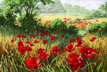 click here to view larger image of Host of Poppies, A (counted cross stitch kit)