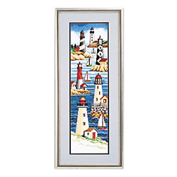 click here to view larger image of Lighthouses (counted cross stitch kit)