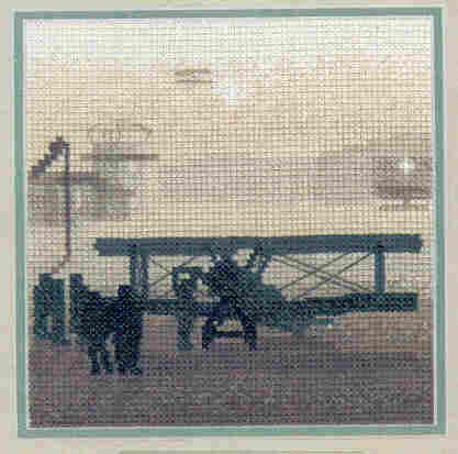 click here to view larger image of Aerodrome - Silhouettes by Phil Smith (counted cross stitch kit)