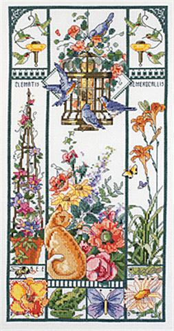 click here to view larger image of Summer Cat Sampler (counted cross stitch kit)