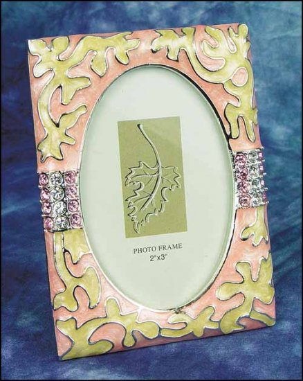 click here to view larger image of Decorative Frame - Peach Enamel Frame (frame (ready made))