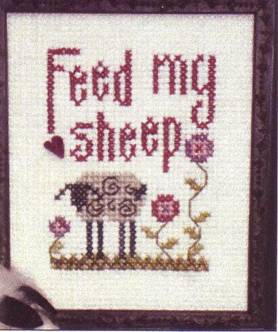 click here to view larger image of Feed My Sheep (counted cross stitch kit)