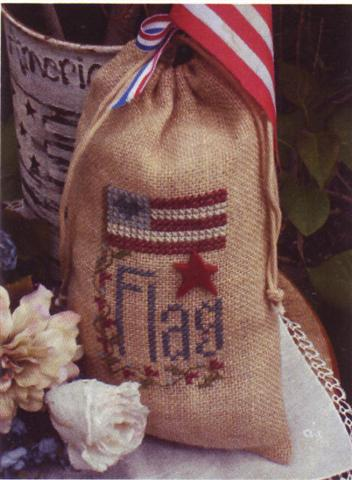 click here to view larger image of Flag Bag (counted cross stitch kit)