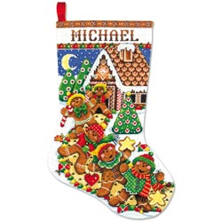 click here to view larger image of Gingerbread Man Stocking (counted cross stitch kit)