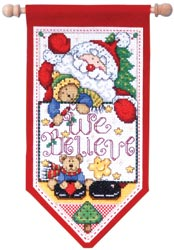 click here to view larger image of We Believe Santa Banner (counted cross stitch kit)