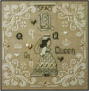 click here to view larger image of Q is for Queen (counted cross stitch kit)