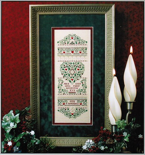 click here to view larger image of Holly and Hearts Sampler (Limited Edition) (counted cross stitch kit)