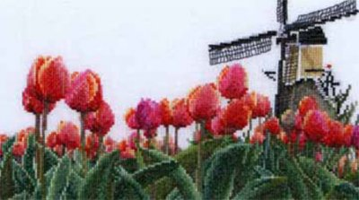 click here to view larger image of Bulb Field (counted cross stitch kit)