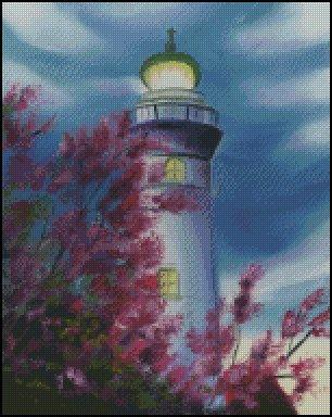 click here to view larger image of Lighthouse Behind the Trees (chart)