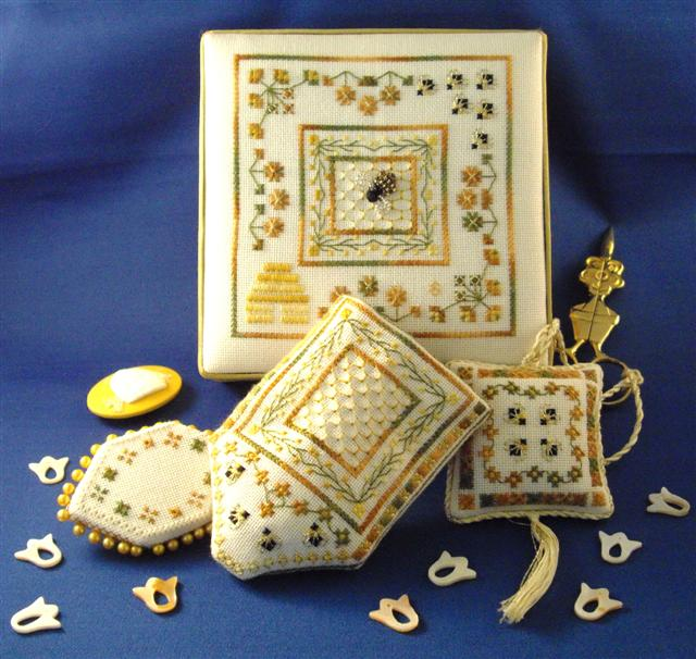 click here to view larger image of Bees Garden Stitching Accessories (chart)