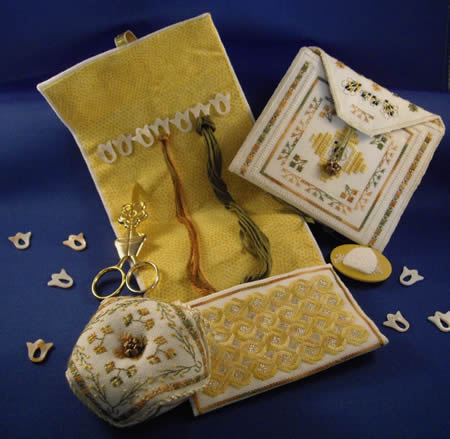 click here to view larger image of More Stitching Accessories in the Bees Garden (chart)