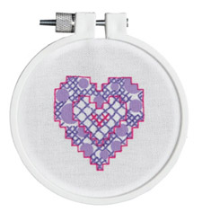 click here to view larger image of Fun Heart (stamped cross stitch kit)