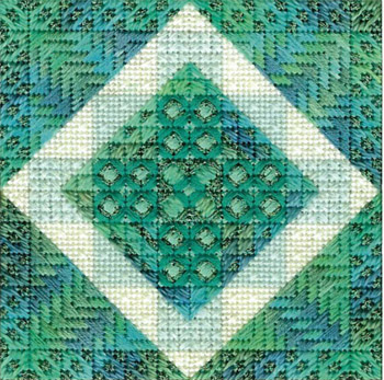 click here to view larger image of Color Delights - Aqua (counted canvas chart)