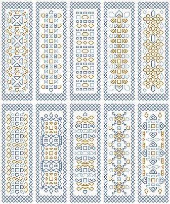 click here to view larger image of Blue Bookmarks (chart)