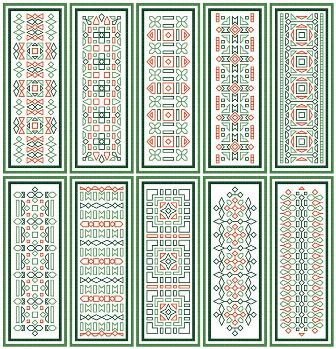 click here to view larger image of Green Bookmarks (chart)