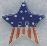 click here to view larger image of Large Star Flag Button (buttons)