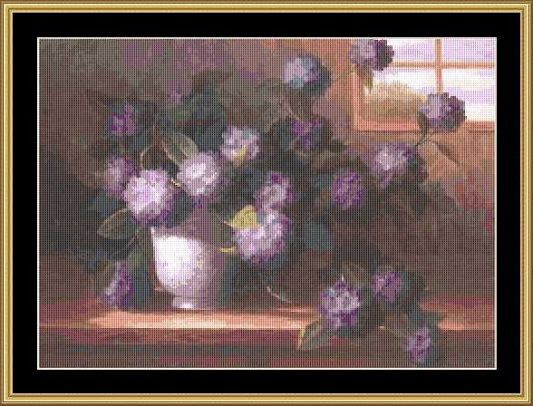 click here to view larger image of Hydrangea Blossoms II (chart)