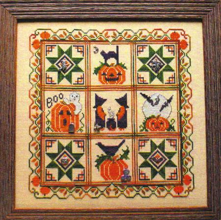 click here to view larger image of Halloween Quilt (chart with charms/buttons)