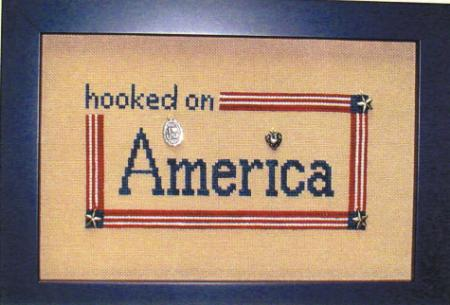 click here to view larger image of Hooked on America (chart with charms/buttons)