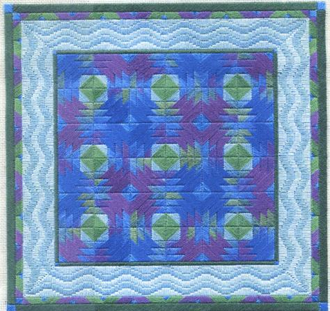 click here to view larger image of Pineapple Quilt (counted canvas chart)