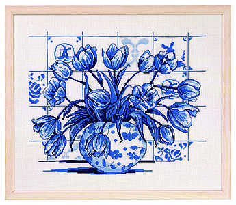 click here to view larger image of Dutch Blue Tile (counted cross stitch kit)