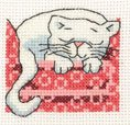 click here to view larger image of Cosy Cat (counted cross stitch kit)