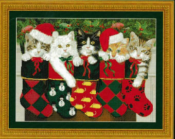 click here to view larger image of Holiday Stocking Kittens (chart)