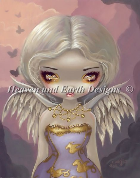 click here to view larger image of Angel In Lilac - Quick Stitch (chart)
