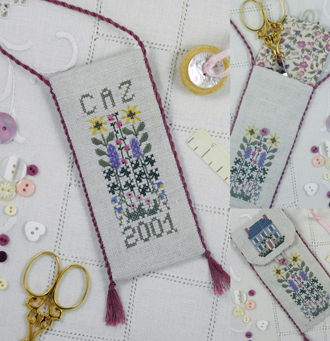 click here to view larger image of Cottage Garden Scissors Case Kit (counted cross stitch kit)