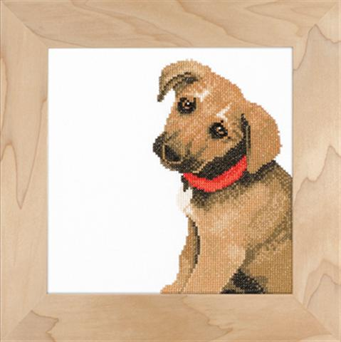 click here to view larger image of Adorable Puppy  - 27ct (counted cross stitch kit)