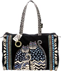 click here to view larger image of Spotted Cats -  Travel Bag w/Zipper Top  (accessory)