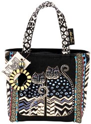 click here to view larger image of Spotted Cats - Medium Tote Zipper Top  (accessory)