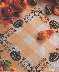 click here to view larger image of Colmar Table Topper (White/Coral) (tablecloths)