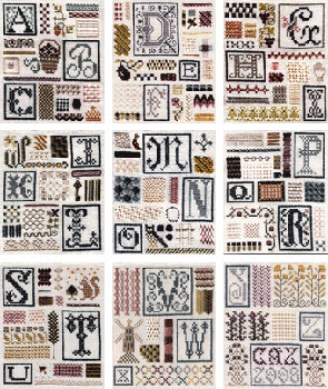 click here to view larger image of Sampler of Stitches - YZ (chart)