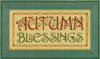 click here to view larger image of Autumn Blessings (chart)