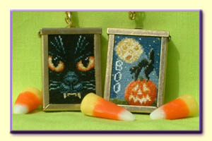 click here to view larger image of Boo - Pendant (with Pendant) (chart with charms/buttons)