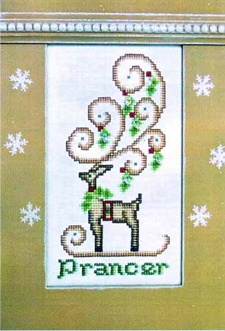 click here to view larger image of Crystal Prancer (chart with charms/buttons)