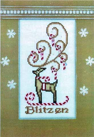 click here to view larger image of Crystal Blitzen (chart with charms/buttons)