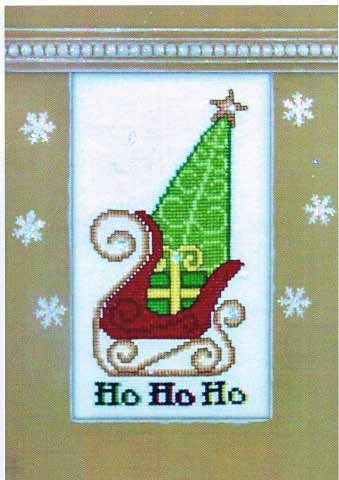click here to view larger image of Crystal Ho Ho Ho Sleigh (chart with charms/buttons)