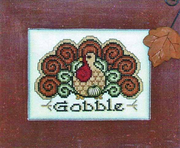 click here to view larger image of Charmed Gobble (chart with charms/buttons)