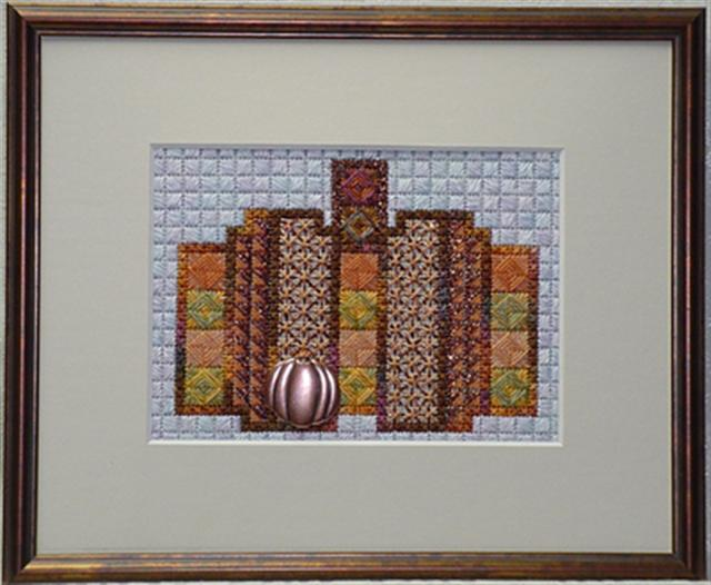click here to view larger image of Norwich Pumpkin (charm included) (counted canvas chart)
