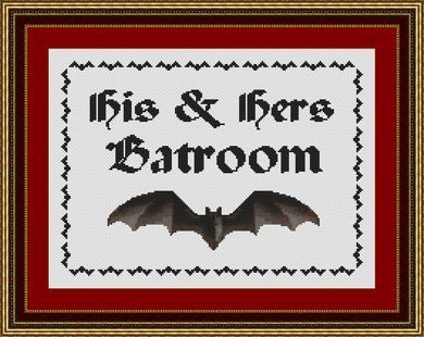 click here to view larger image of His and Hers Batroom (chart)