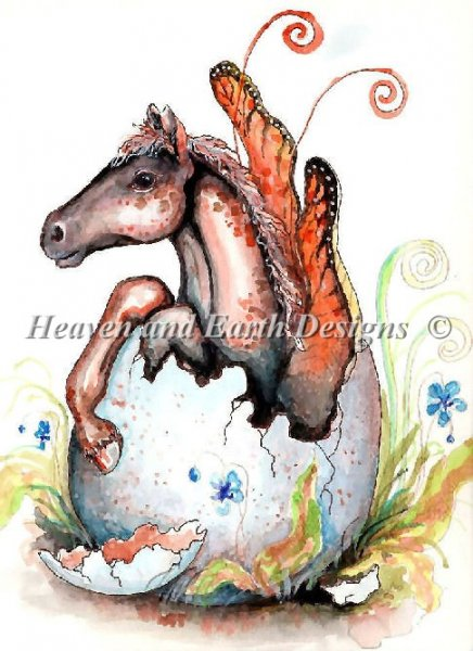 click here to view larger image of Fairy Foal Hatchling - Quick Stitch (chart)