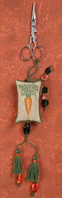 click here to view larger image of Carrot Fob with Hare Scissors (counted cross stitch kit)