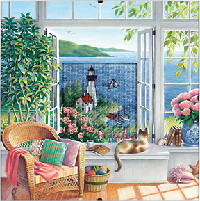 click here to view larger image of Beach Tranquility - Daydreams (counted cross stitch kit)