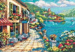 click here to view larger image of Overlook Cafe (counted cross stitch kit)