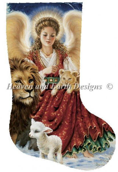 click here to view larger image of Angel Lion and Lamb Stocking (chart)